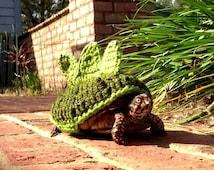 Turtle sweater, turtle cozy, Dinosaur costume for turtles. Stegosaurus Dinosaur Box Turtle Sweater Cozy