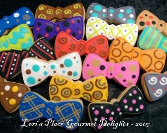 Bow Tie Cookies - 12 Cookies