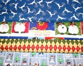 CLEARANCE CHRISTMAS #6 Fabrics, Sold INDIVIDUALLY not as a group, by the Half Yard