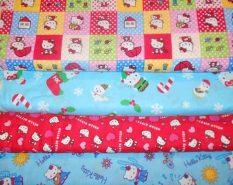 HELLO KITTY #10  Fabrics, Sold INDIVIDUALLY not as a group, by the Half Yard
