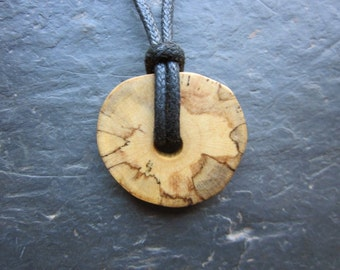 Naturally Colourful Wood Pendant - Elder - Enhances All Magic.