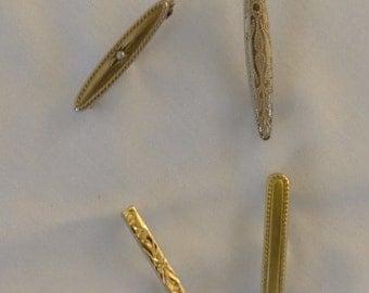 Four Incredible 14K Gold Art Nouveau Beauty Sweetheart Pins