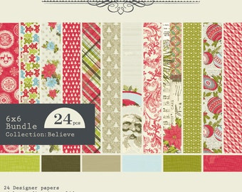 Authentique 6x6 Paper Pad - Believe Collection