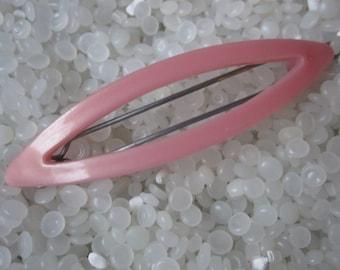 vitnage barrette, Plastic  soft pink ribbon bow