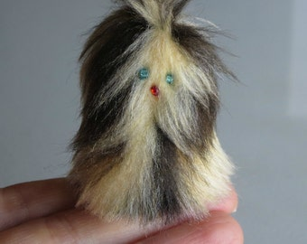 Furry Monster miniature plush toy -  Fur-bitz doll