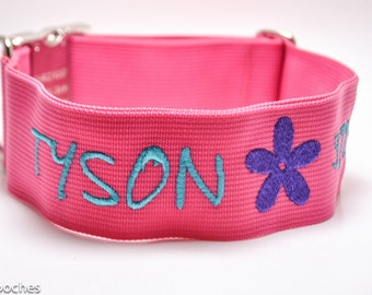 Personalized 2 inch Wide Custom Dog Collar with Image / Buckle or Martingale