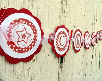 American Girl Birthday Party, Name Banner, Birthday Party, Customized