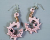 Legend of Zelda Zora Coral Earrings. Polymer clay cosplay jewelry.
