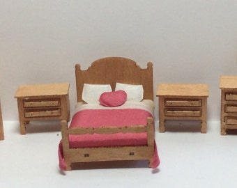 Quarter Inch Scale Country Style Bedroom Furniture Kit