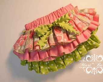 Ready to Ship Fancy Pants Ruffled Diaper Cover 6-9 mos. in Imperial broadcloth and designer fabrics