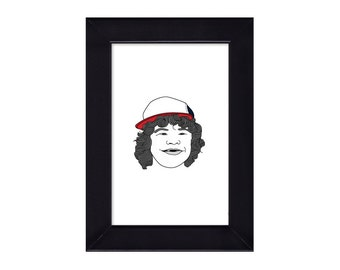 4 x 6 Framed Dustin / Stranger Things Portrait