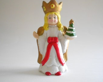Porcelain Angel Bell Vintage 1981 Christmas Angel Bell Angel Figurine Angel Statue Sears Roebuck Taiwan Christmas Decor Home Decor