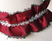 Georgian Choker Historical Marie Antoinette 18th Century Costume Accessory Fashion Accessory with lace trim, Goth, Victoriana, Cosplay
