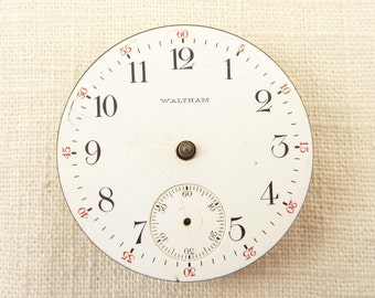Antique Waltham Pocket Watch Movement AS IS for Crafting