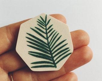 Palm Leaf Brooch