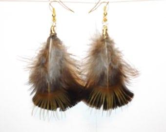 Feather Earrings,  Healing Jewelry, Native American inspired, Spiritual Healing Jewelry, Feather Jewelry, Tribal Jewelry