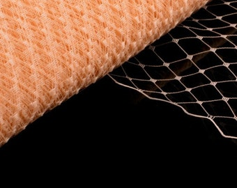 Veil Fabric, Veiling for Hats and Birdcage Veils Champagne - Wholesale Available