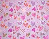 COUPON CODE SALE - End of Bolt - Free Spirit, Dena Designs, Haute Girls, Hearts, Pink, Designer Cotton Quilt Fabric, Quilting Fabric