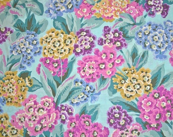 COUPON CODE SALE - End of Bolt - Philip Jacobs, Primula, Sky, Rowan Westminster, 100% Cotton Quilt Fabric, Floral Fabric, Quilting Fabric
