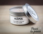 KÂMA // Vegan aphrodisiac soy massage candle // KÂMA chandelle à massage aphrodisiaque