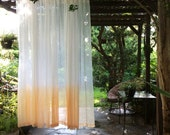 Ombre light diffuse sheer curtains set of 2 (Ombré Sunset)