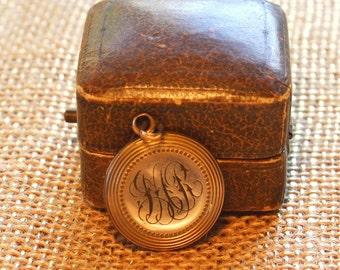 Victorian Round Engraved Locket