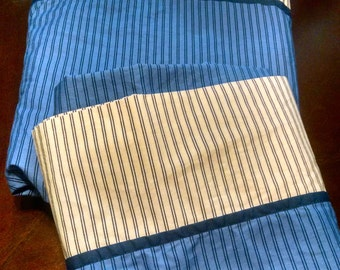 Vintage Twin Sheet and Matching Pillowcase Linens Retro Bedding Nautica