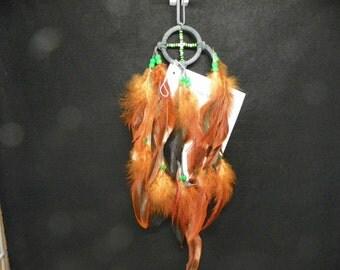Small Green and Orange Medicine Wheel Native American Made