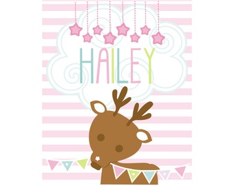 Girls Personalized Name Print Hailey