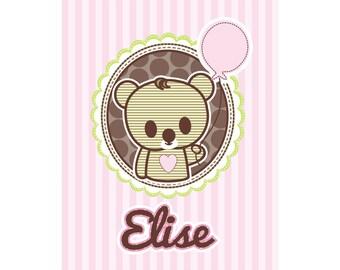 Girls Personalized Name Print Elise