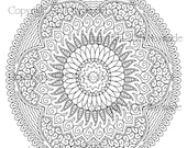 Mandala - Studio 3, PDF, PNG, and JPEG files for cutting machines and coloring