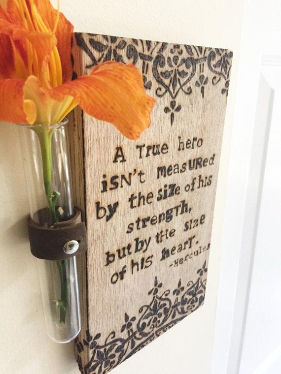 Items similar to SALE! Test Tube Flower Vase & Wood ...