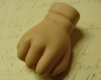 The Original Vintage Chubby Porcelain Small Doll Hand for Assemblage