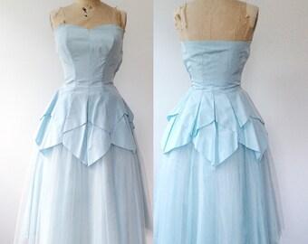 1950s dress / 50s party dress / La Belle dress