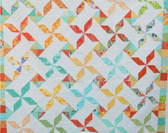 Summer Swirls Quilt PDF Pattern