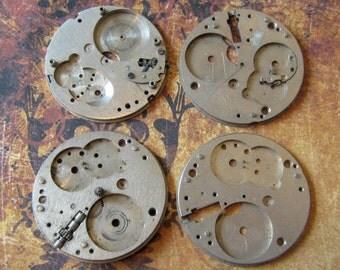 Vintage pocket Watch movement parts - Pocket watch plates Steampunk - Scrapbooking p22
