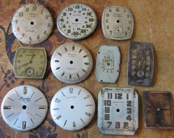 Vintage Antique Watch  Assortment Faces - Steampunk - Scrapbooking x77