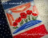 Memorial Day Poppy Hill Patriotic Punch Needle Embroidery DIGITAL Jpeg and PDF PATTERN Michelle Palmer Painting with Threads