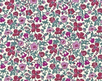 Liberty Fabric Meadow R Purple Tana Lawn One Yard Floral