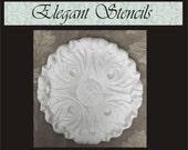 Plaster Mold Ornate Round Mold, Craft Mold, Decorative Mold, Concrete Mold