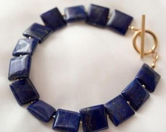 Lapis Squared Bracelet