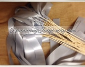 Instead of Rice Jumbo Ribbon Streamer Sticks..PACK OF 50...You choose the Ribbon Color..shown in silver