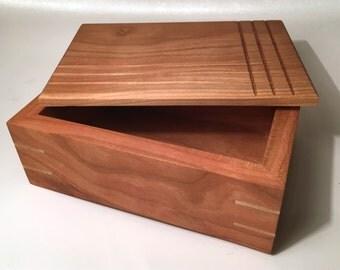 Handmade Wooden Keepsake Box - Cherry