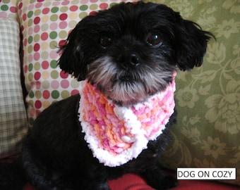Dog Scarf Neckwear, Pet Cowl Neckwear, Size SMALL, Pink Scarf