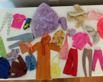 Lot of 1980s Barbie Clothing including Barbie and the Rockers
