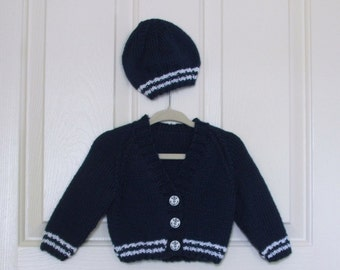 Hand Knitted Blue Boy Sweater