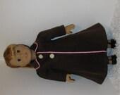 Brown Winter Coat, Fits 18 Inch American Girl Dolls