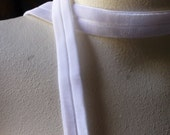 2 yds. Foldover Elastic in White Velvet for Headbands, Garters, Sewing, Bridal  SVL 209
