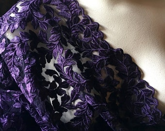 Purple Fabric Embroidered for GRAD, Couture Gowns, Costume Design