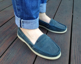 Blue Suede Loafers Size 7.5